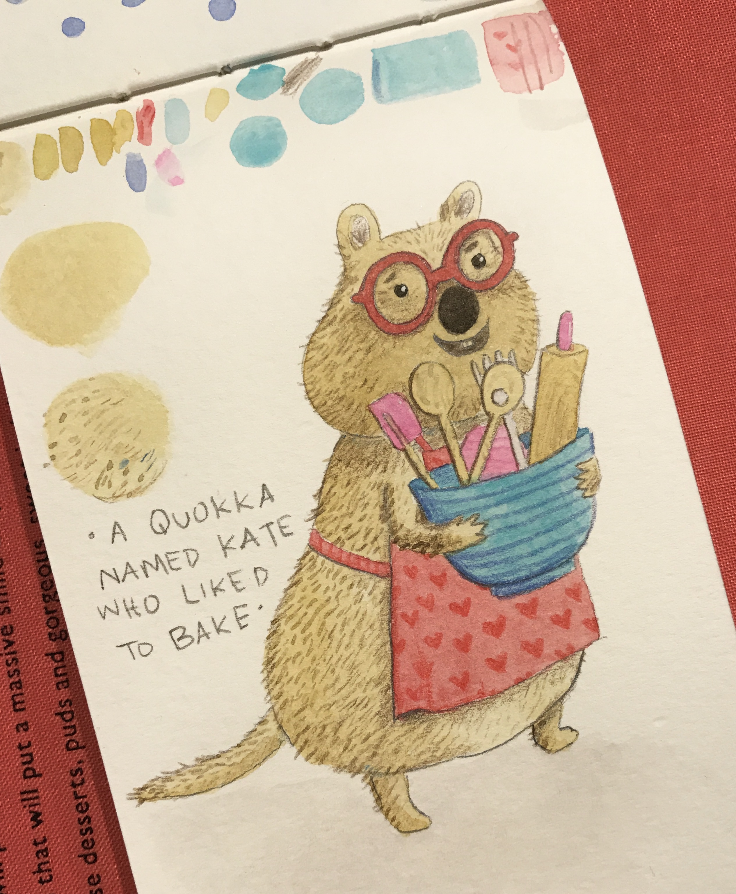Kate Quokka illustration by Amie Sabadin