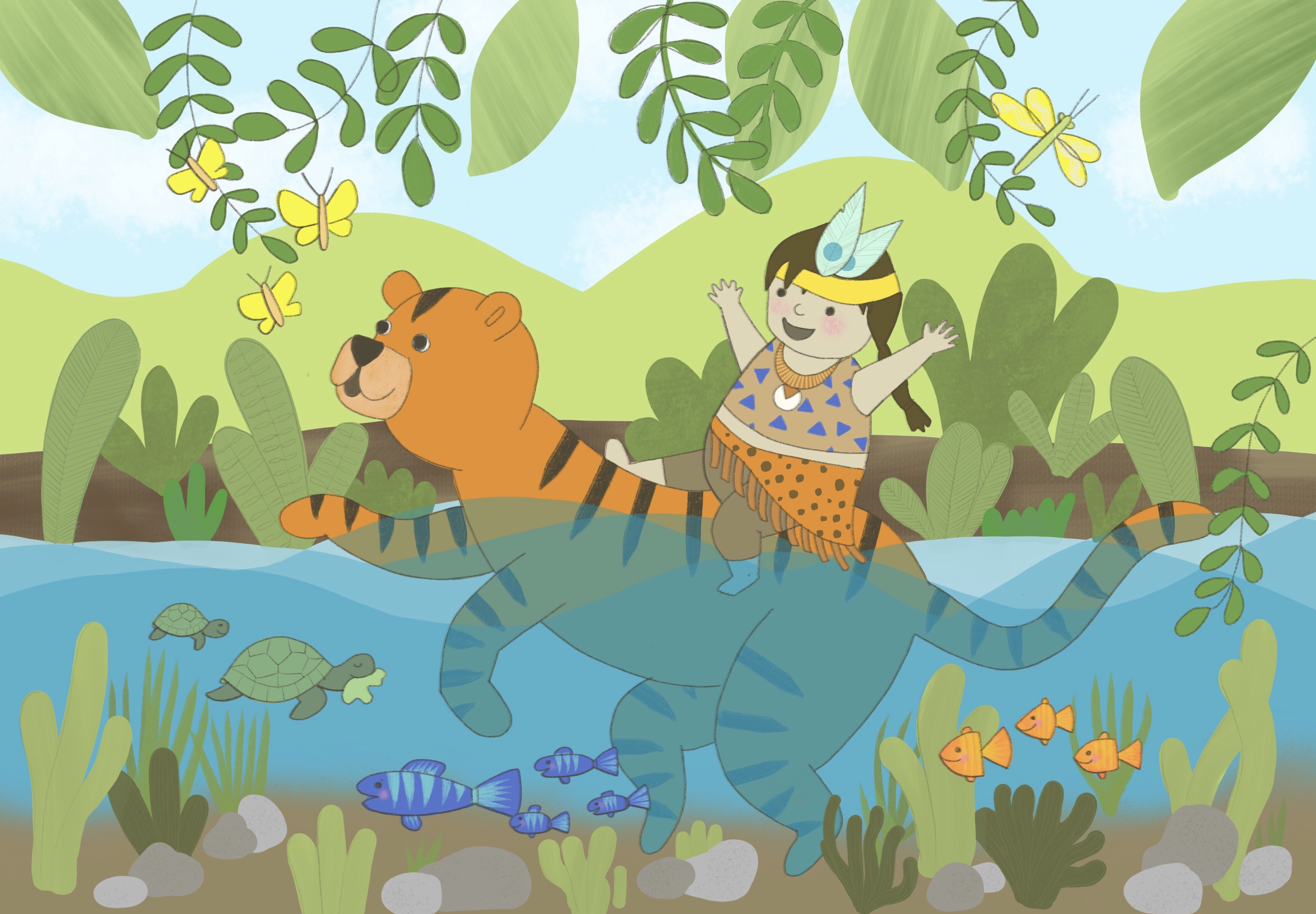 Jungle fun Illustration by Amie Sabadin