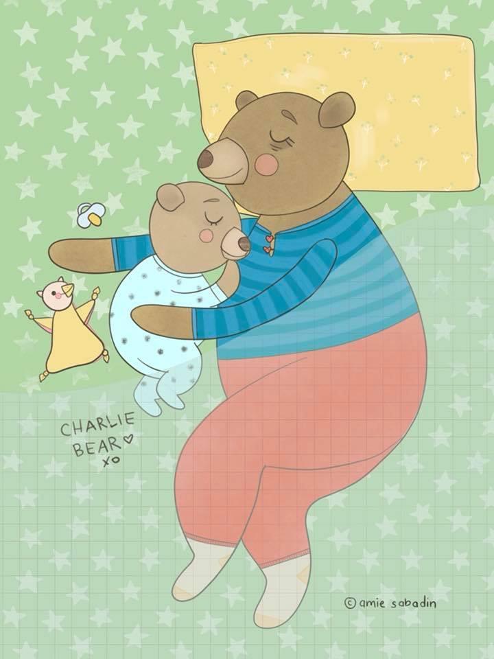 Bears cuddling