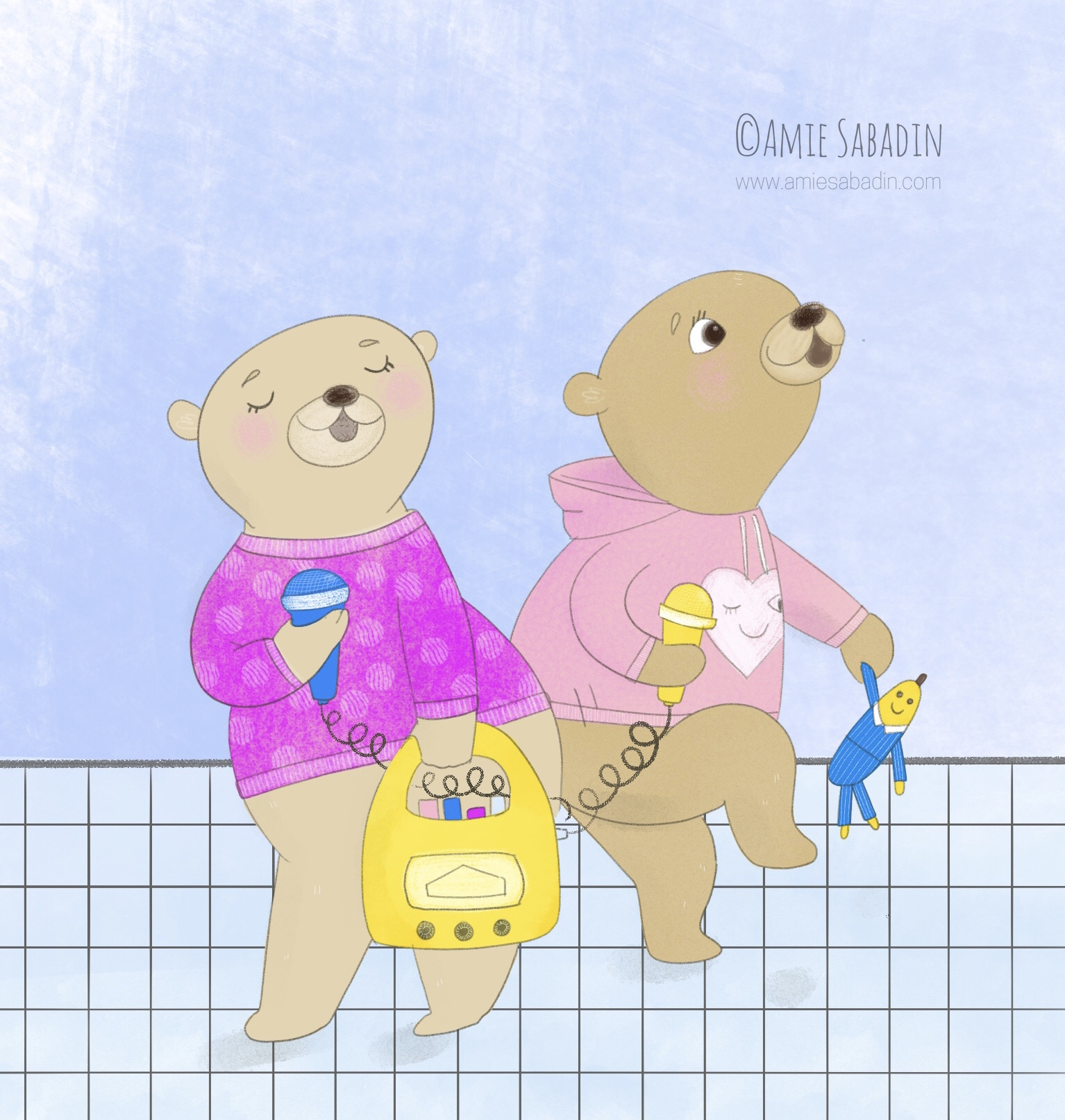 Singing, dancing bears by Amie Sabadin