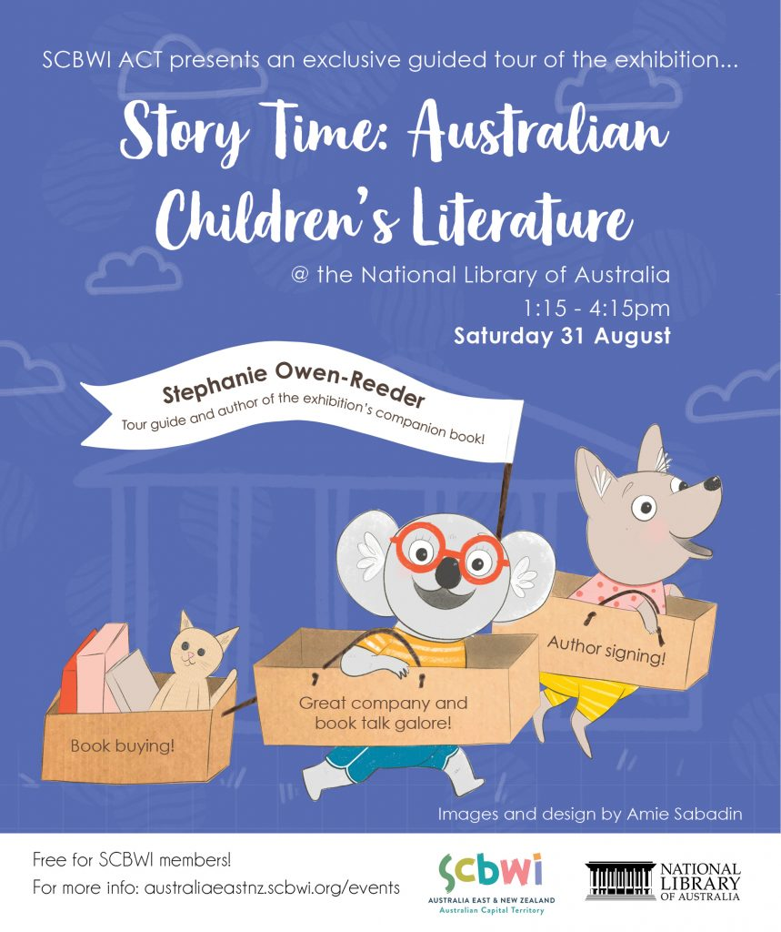 Design and illustration for a SCBWI ACT event at the National Library of Australia.