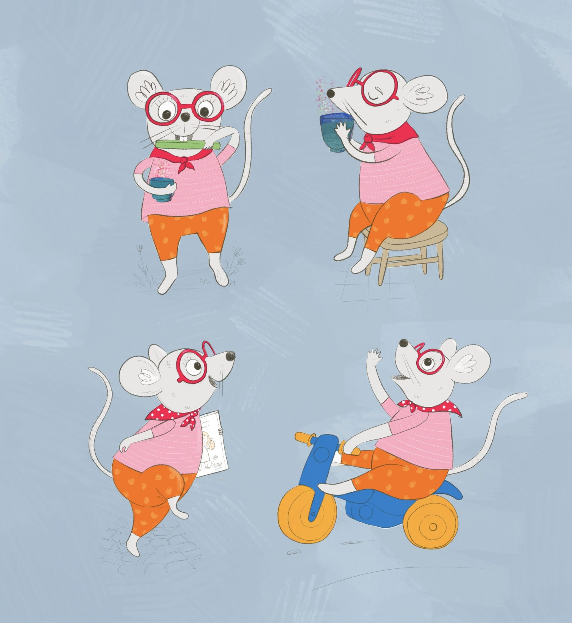 Character design mouse Illustration