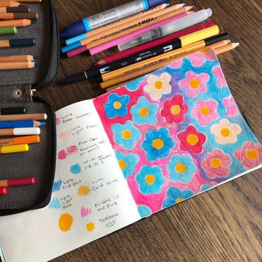 Sketchbook flower pattern by Amie Sabadin